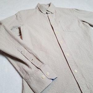 Banana Republic Tailored Slim Fit Seersucker shirt